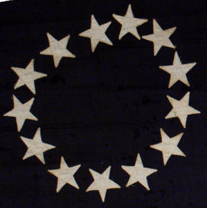 Rare flags antique american flags historic american flags the pattern of 13 stars arranged in a circle is attributed through folklore to betsy ross although no period historical evidence links her to the design of publicscrutiny Choice Image